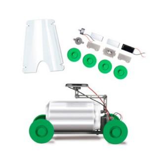 Carrinho de Lata movido a energia Solar, Brinquedo Sustentável Montagem Robótica Motorizado