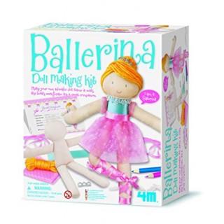 Kit Boneca Bailarina 4m, Faça sua Boneca de Pano, Brinquedo Meninas