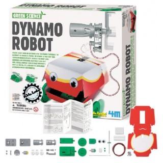 Dinamo Robô, Robô Energia Verde, Robô p/ Montar com Material Reciclado, Kit Robótica Sustentável