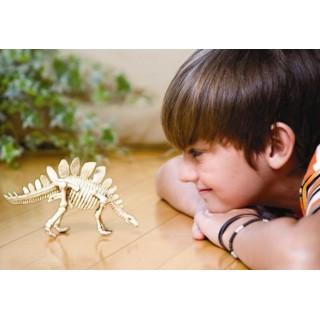 Estegossauro, Brinquedo Educativo, Kit Paleontologia, Escavação fósseis e Esqueleto, 7+