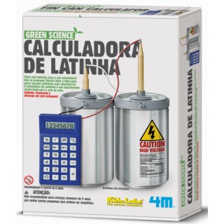 Calculadora de Lata Reciclada, Energia Alternativa, Kit brinquedo Educativo