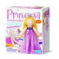 Kit Boneca Princesa 4m, Faça sua Boneca de Pano, Meninas 00-02746