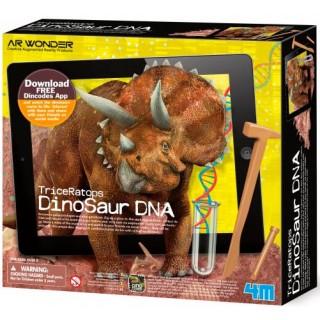 Triceratopo DNA, Kit Paleontólogo e Geneticista, Escave e Crie Vídeo Realidade Aumentada