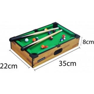 Mini Mesa de bilhar, Snooker, Sinuca com tabuleiro, dois tacos, dezesseis bolas e triangulo