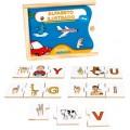 Alfabeto ilustrado libras, 78 peças, jogo da memoria,  brinquedos educativos, criativos, inclusão, Mdf, 3+