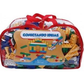 Conectando Ideias, Super Kit Educativo blocos, 4KG, 1000 peças, Brinquedo Educativo