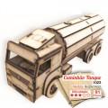 Caminhão Tanque de Montar, Quebra-Cabeça 3D, 91 peças, Brinquedo MDF
