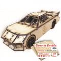 Carro de corrida para montar, Quebra-Cabeça 3D, 67 peças, Brinquedo MDF