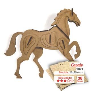 Cavalinho para montar, Quebra-Cabeça 3D, 36 peças, Brinquedo MDF