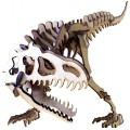Dinossauro Alaossauro p/ montar, Quebra-Cabeça 3D, 48 peças, Brinquedo e decoração MDF
