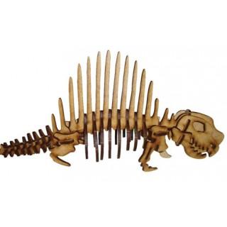 Dinossauro Dimeterodon p/ montar, Quebra-Cabeça 3D, 30 peças, Brinquedo e decoração MDF