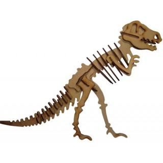 Dinossauro T-Rex p/ montar, Quebra-Cabeça 3D, 27 peças, Brinquedo e decoração MDF