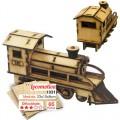Trenzinho para montar, Quebra-Cabeça 3D, 65 peças, Brinquedo MDF