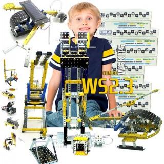Robótica Escola Motorizados e Programação Lógica, 2º e 3º ano (7+), 15 alunos, Combo WS2.3