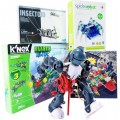 Kit Escolar Mecanismos de Montagem Motorizados, Robótica Estrutural 8 a 12 alunos, 7+