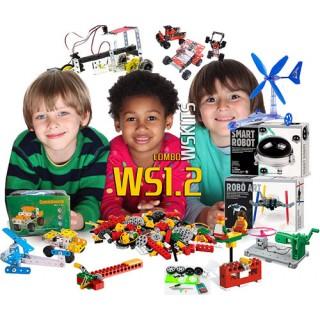 Introdução Robótica Estrutural Mecanismos Motores, 1º e 2º ano (6+), 15 alunos, Combo WS1.2