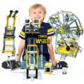 Kit Robótica Escolar Motorizados Grandes Projetos c/ Parafusos, Robótica Estrutural 9+