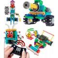 Controle Remoto 4 Modelos, Kit Robótica Educativo Motorizado; 237 pçs: Robôs e Veículos