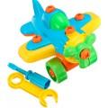 Aviãozinho c/ Ferramentas de Plástico p/ Montagem e Desmontagem girando Parafusos 3+