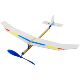 Avião de Montagem, Simples Aero Modelo c/ elástico, Sky-Touch Rubber Plane, Kit Educativo