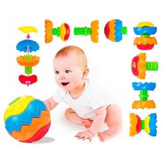 Bola de Montagem e Desmontagem, Monta diversos brinquedos e Formas, 6 meses +