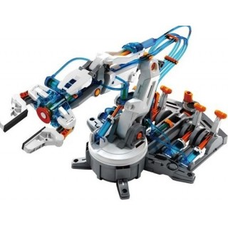 Braço Robótico Hidráulico, Alimentado c/ Água, Kit Robótica Montagem Garra c/ 229 pçs STEM