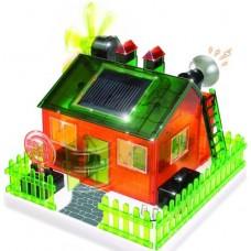 Casa Ecológica, Brinquedo Sustentável kit p/ montar, Alarme, Led,Moinho, Energia Solar, 6+