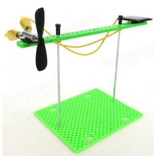 Experimento Eco, Kit de Ciência Sustentável com Motor e Helice, Movido a Energia Solar