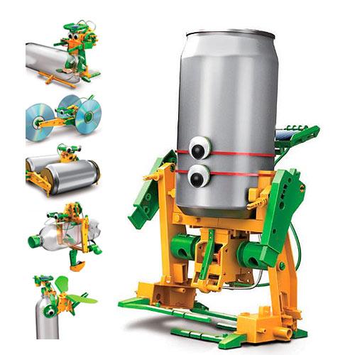Super Robô Reciclador de Lata, Garrafa Pet, CD, Kit Robótica Energia  BI71