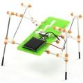Robô anda 4 pernas movido Energia Solar, Kit Robótica, engrenagens montagem parafusos