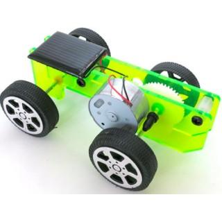 Carrinho Energia Solar de Montagem c/ parafusos, Kit Sustentável + de 20pçs, Motorizado
