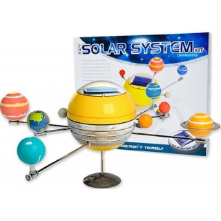 Sistema Solar, Movido c/ painel de energia Solar. Kit Ciência educacional, pinte e construa!