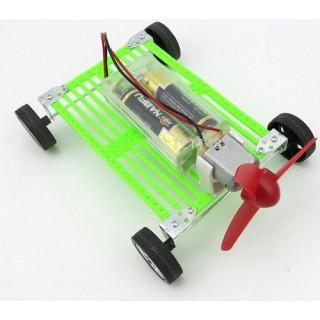 Carrinho Motor Elétrico a propulsão, Kit Montagem Educativo com Hélice, carro do vento