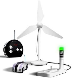 Eco Racer Wind, Carrinho Energia do Ar (Eólica), Controle Remoto, Kit Brinquedo Sustentável