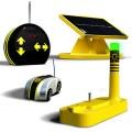 Eco Racer Solar, Carrinho Energia Limpa de Controle Remoto, Kit Brinquedo Sustentável
