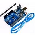 Arduino Uno Rev3 R3 Atmega328 Smd Com Cabo Usb E Placa Pinos