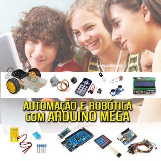 Kit Arduíno MEGA, Didática de Automação e Robótica, E-book 50 Projetos, drivers e softwares