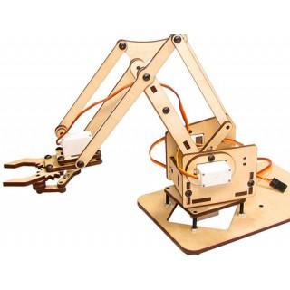 Braço Robótico Completo Arduino + Código + Controle, Kit Educacional Eletrônica Programação