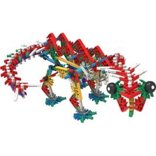 Dinossauro de Montagem c/ Motor 255 peças, KNEXosaurus Rex, Tiranossauro, Kit Robótica
