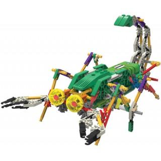 KNEX 163 peças, Kit Robótica, Escorpião Robótico Motorizado p/ Montar