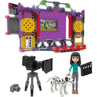 Conjunto Knex Construção Teatro, Dirija o set de Filmagem, 308 peças, Brinquedo montagem