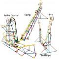 Montanha Russa KNEX 3x1 Modelos, STEAM/STEM Kit Robótica, Montagem c/ Motor 546 peças, 8+