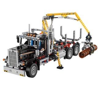 Caminhão Transporte de Madeira, Garra Mecânica, Lego 1308 peças