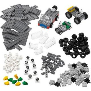 Kit LEGO Education Rodas, Monta 12 veículos simultâneos, 286 pçs p/ montar, 4+, Pré 1 e 2