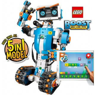 Robótica Kit LEGO Boost Programável via Tablet, 5 em 1: Robô, Tanque, Guitarra, 847 pçs, 7+