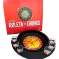 Roleta de Drinks, Brinquedo Jogo de Adulto, Presente Criativo, 6 copinhos personalizados