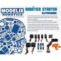 Peças avulsas p/ projetos de Robótica, kit Eletricidade: circuito, interruptor, motor, hélice, etc