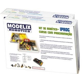 IPROG Kit Robótica Programável, Mini curso Robótica, 6 projetos, Controle Remoto, Sensores