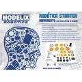 Peças avulsas variadas projetos Robótica, kit Starter Movimento Motor MM6 - Modelix Educativo