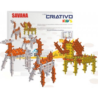 Kids Savana, Kit Robótica iniciação Educativo, Montagem por encaixe, 32 peças